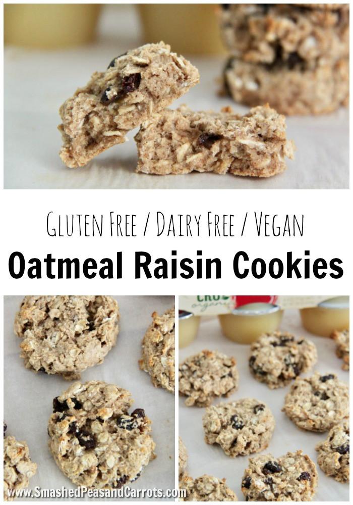 Gluten Free Oatmeal Raisin Cookies  The Best Gluten Free Vegan Oatmeal Raisin Cookies