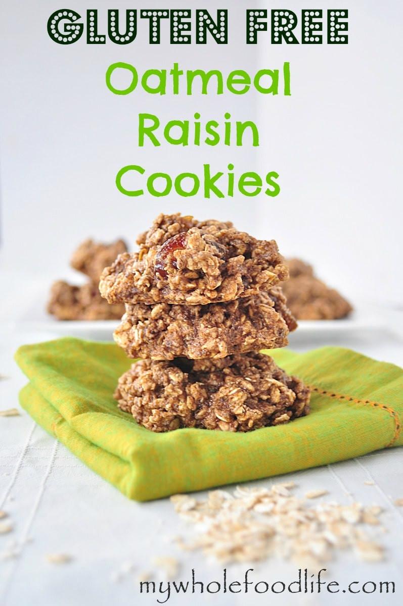 Gluten Free Oatmeal Raisin Cookies  Gluten Free Oatmeal Raisin Cookies My Whole Food Life