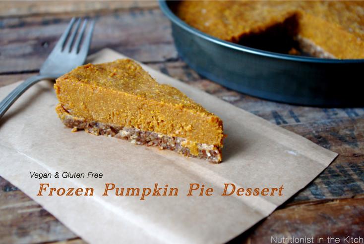 Gluten Free Pumpkin Desserts  Frozen Pumpkin Pie Dessert Vegan & Gluten Free