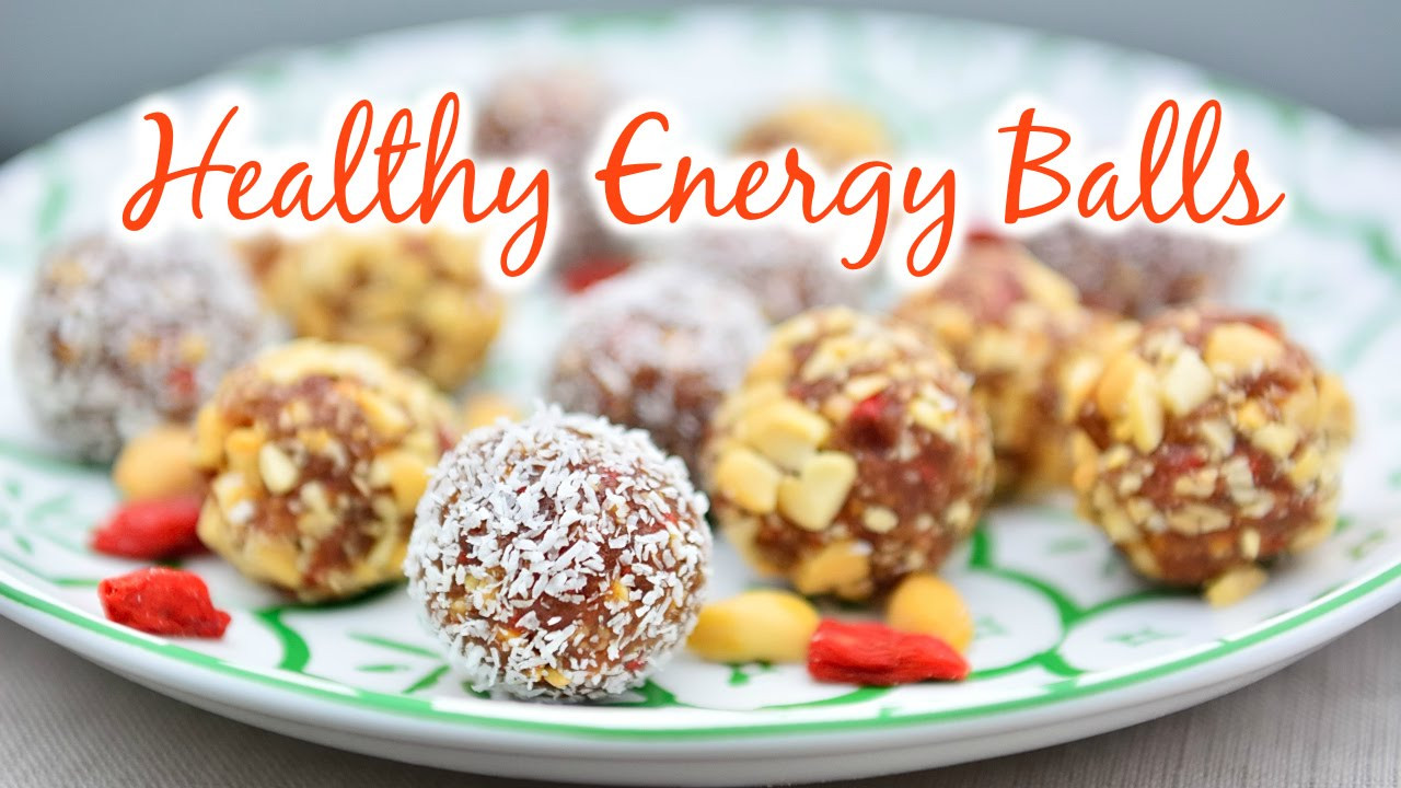 Gluten Free Snack Recipes  Energy Balls ♡ Easy 5 Ingre nt Healthy Vegan Sugar
