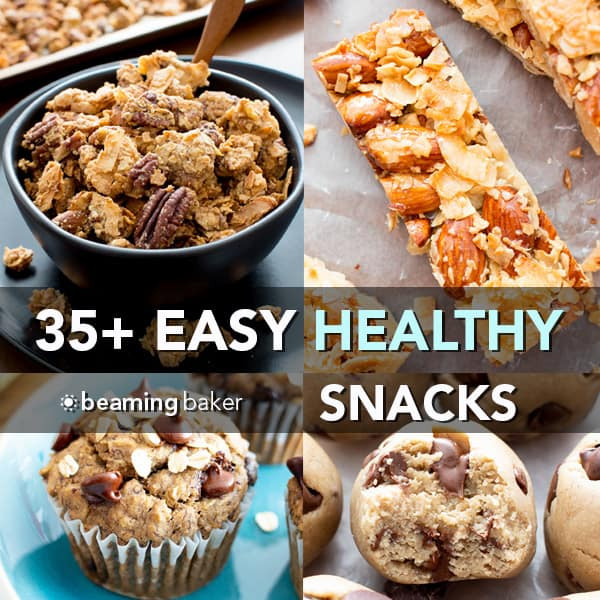 Gluten Free Snack Recipes  35 Easy Healthy Snack Recipes Vegan Gluten Free