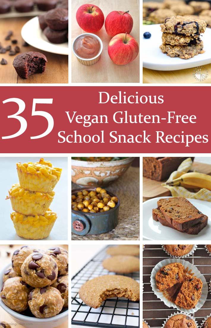 Gluten Free Snack Recipes  35 Delicious Vegan Gluten Free School Snack Recipes