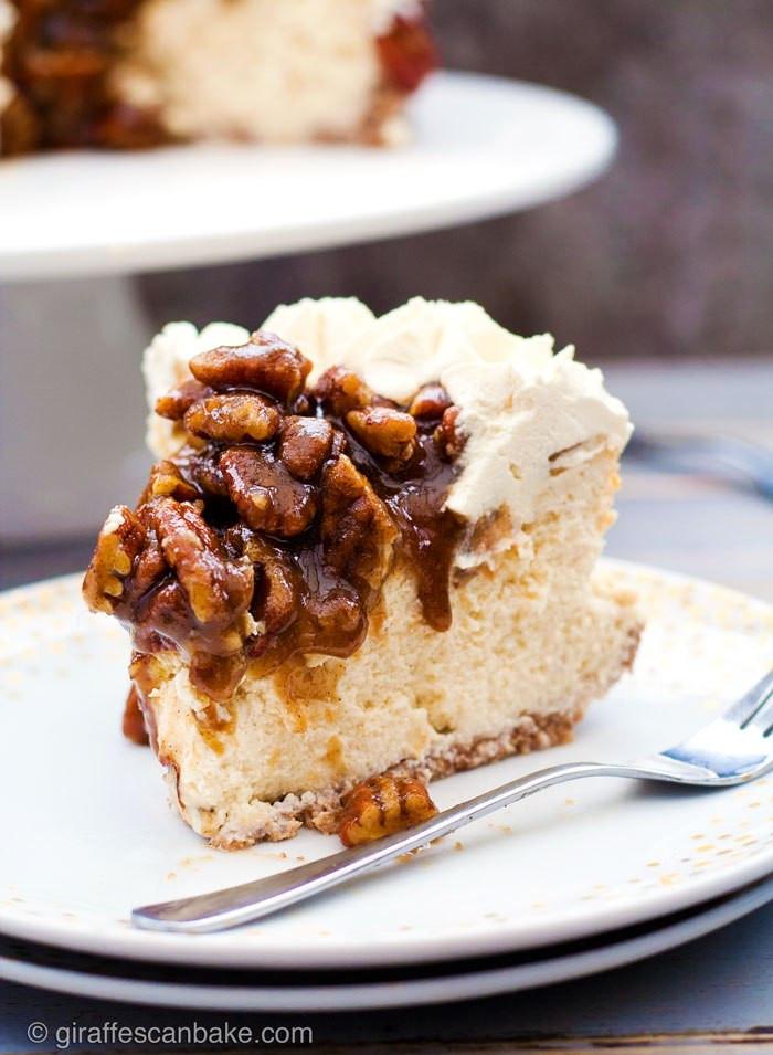 Gluten Free Thanksgiving Dessert  Pecan Pie Cheesecake Gluten Free Giraffes Can Bake