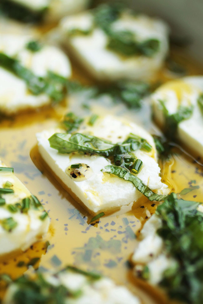Goat Cheese Appetizers  Herb Marinated Goat Cheese