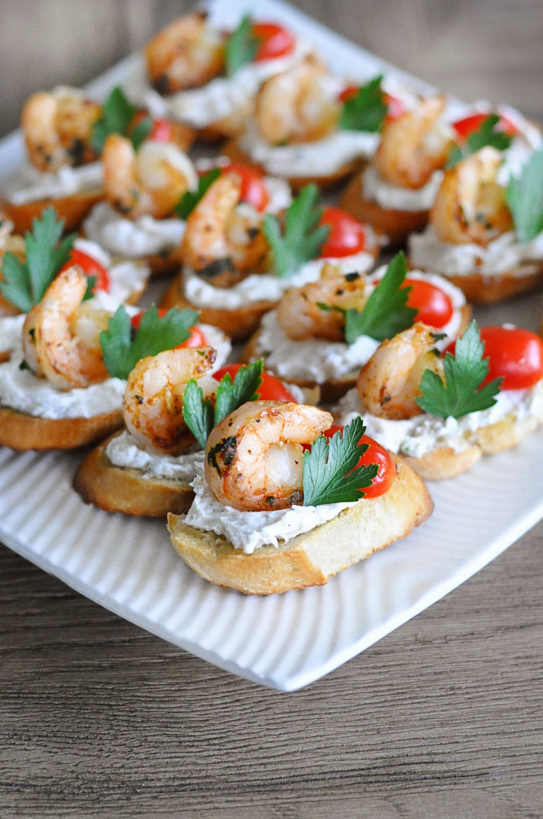 Goat Cheese Appetizers  shrimp and goat cheese appetizer