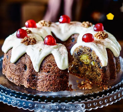 Good Christmas Desserts  Marzipan in the middle bundt cake recipe