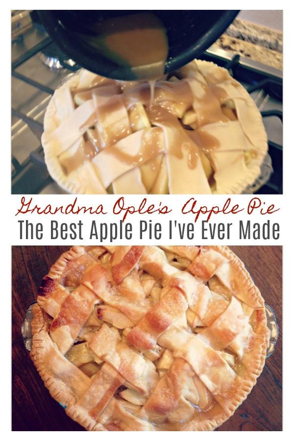 Grandma Ople'S Apple Pie  Grandma Ople s Famous Apple Pie Sweet Little Bluebird