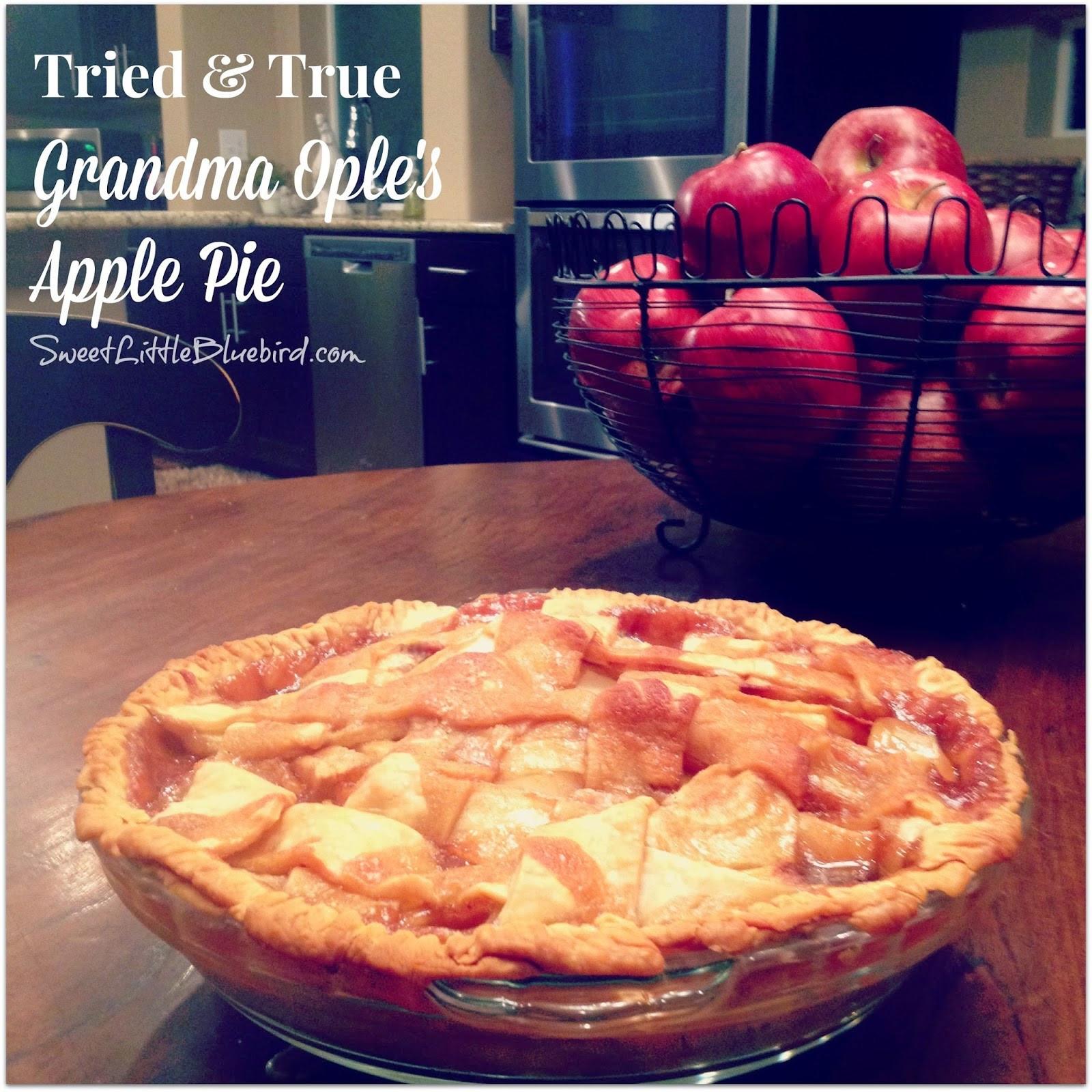 Grandma Ople'S Apple Pie  GRANDMA OPLE S APPLE PIE GIRLS DISH