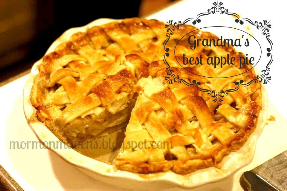 Grandma Ople'S Apple Pie  Mormon Mavens in the Kitchen Grandma s Best Apple Pie