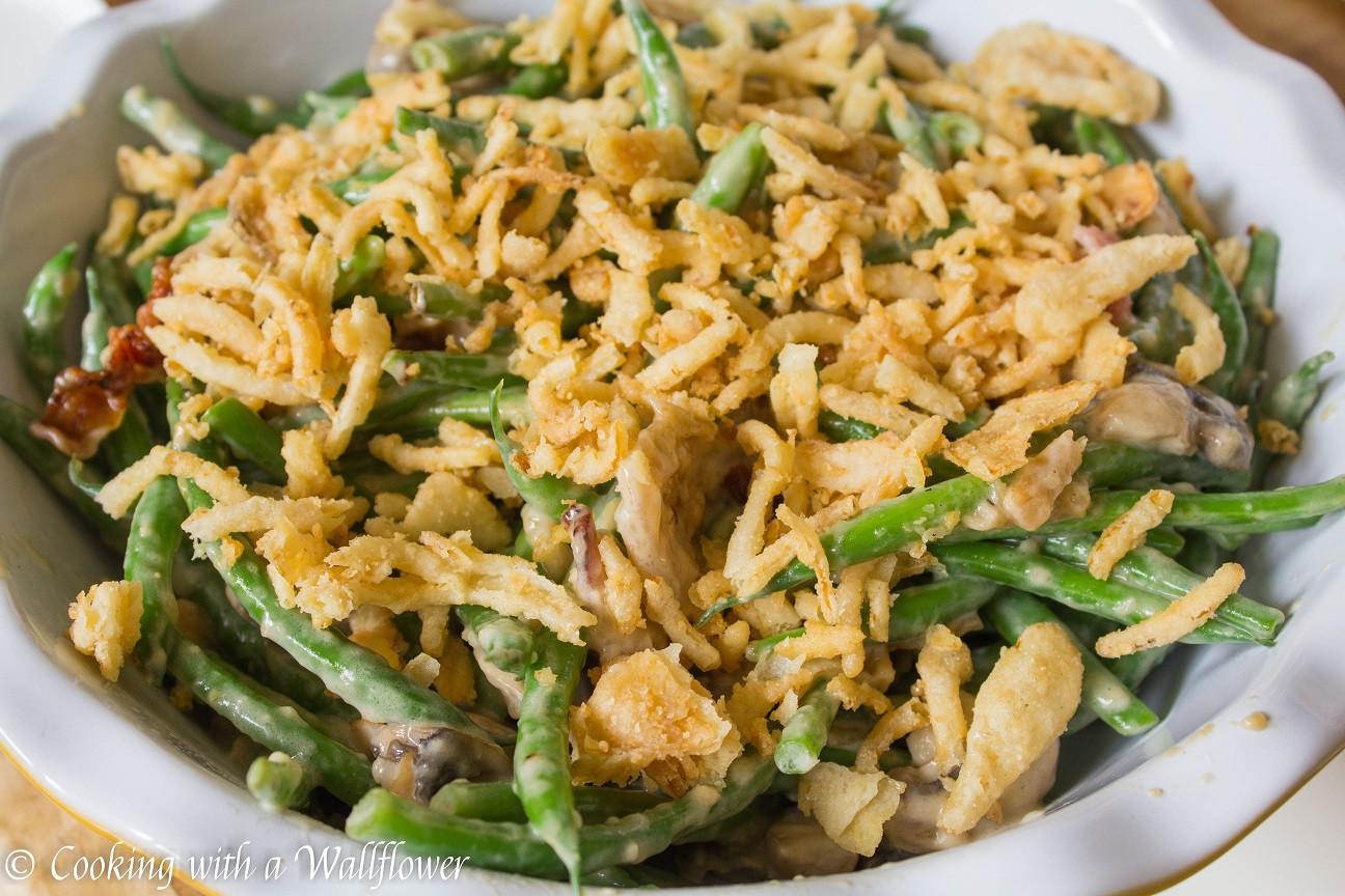 Green Bean Caserole  Creamy Green Bean Casserole with Bacon and Mushrooms