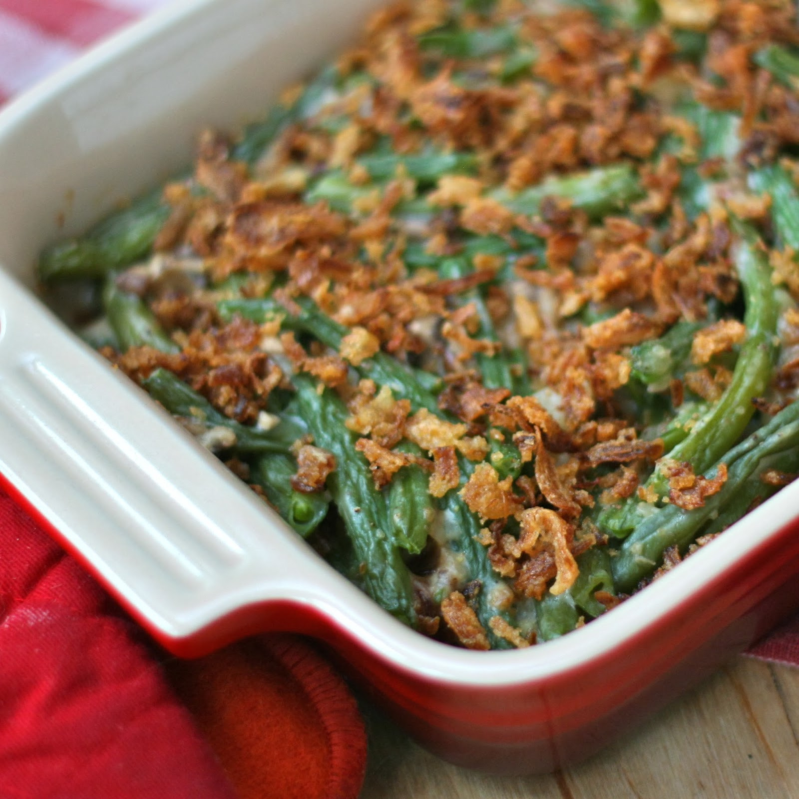 Green Bean Caserole  G is for Green Bean Casserole with homemade ingre nts