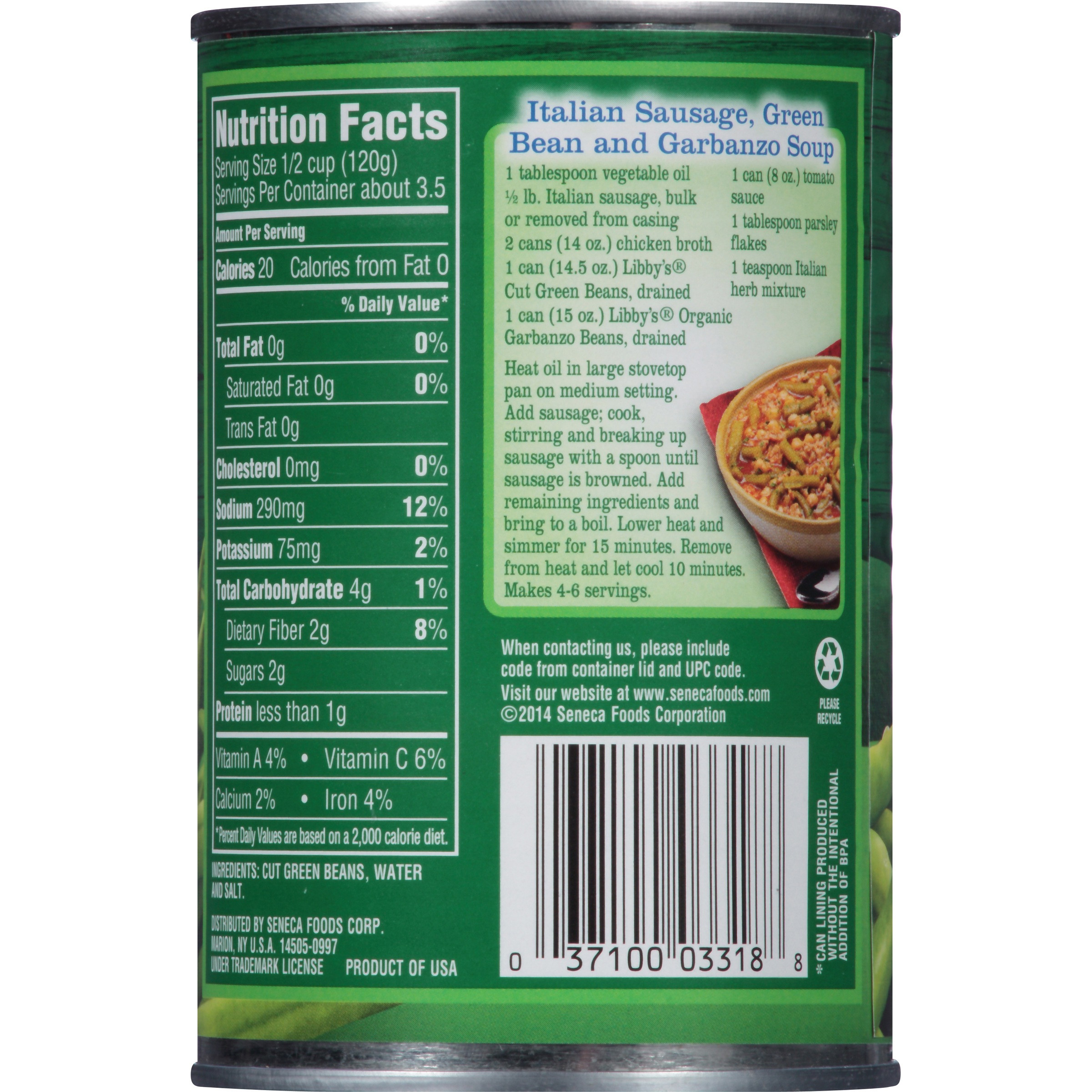 Green Bean Nutrition Facts  dried green beans nutrition