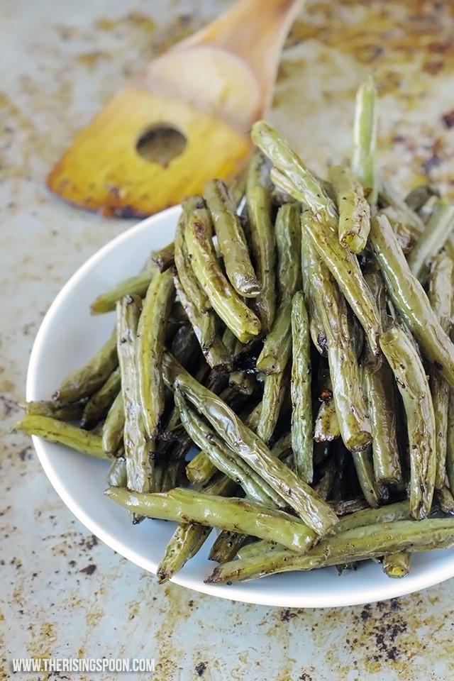 Green Bean Recipe Oven  Balsamic Oven Roasted Green Beans