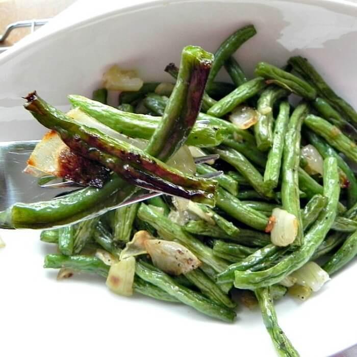 Green Bean Recipe Oven  Oven Roasted Garlic Green Beans The Melrose Family