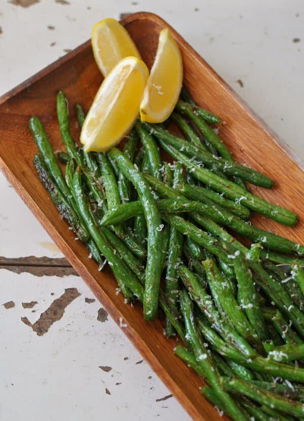 Green Bean Recipe Oven  Clean Eating Garlic Lemon Parmesan Oven Roasted Green