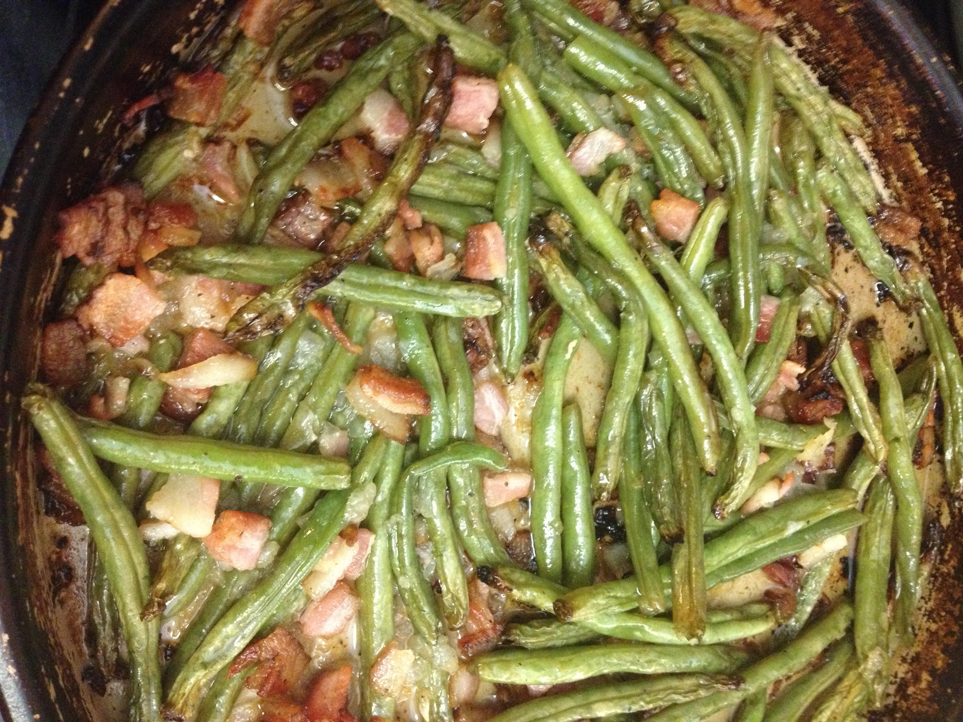 Green Bean Recipe Oven  Oven Roasted Fresh Green Beans Recipe