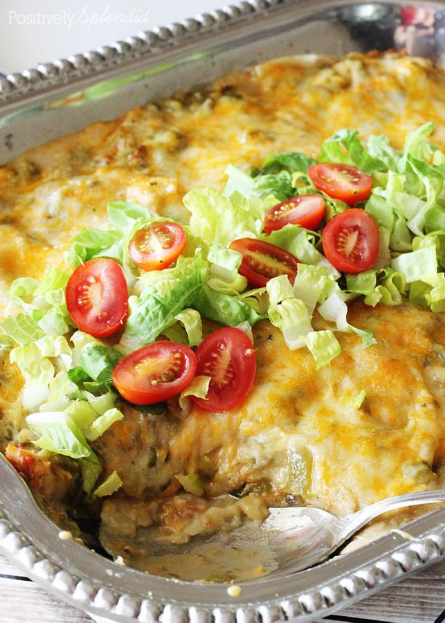 Green Chicken Enchiladas  Green Chile Chicken Enchiladas Traditional New Mexico Recipe
