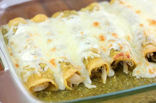 Green Chicken Enchiladas  Green Chicken Enchiladas Recipe
