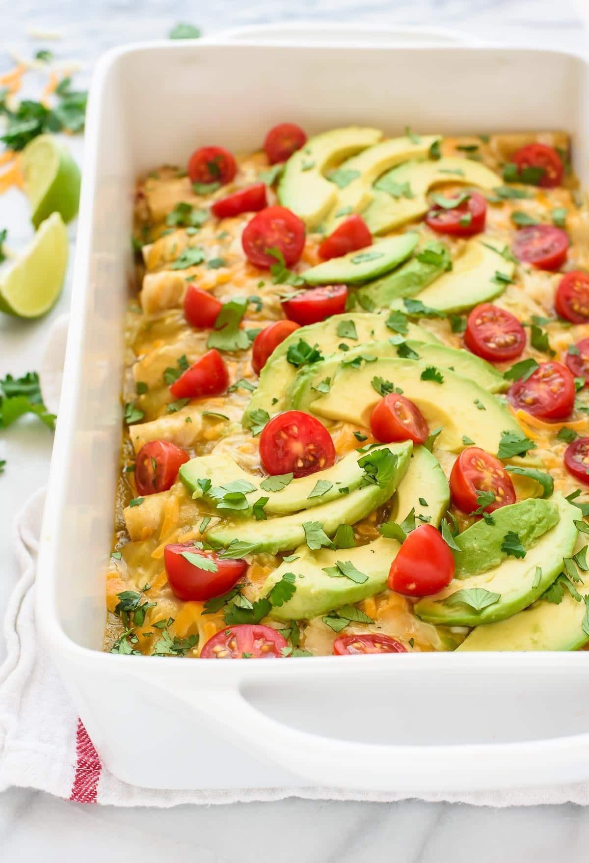 Green Chicken Enchiladas  Green Chile Chicken Enchiladas