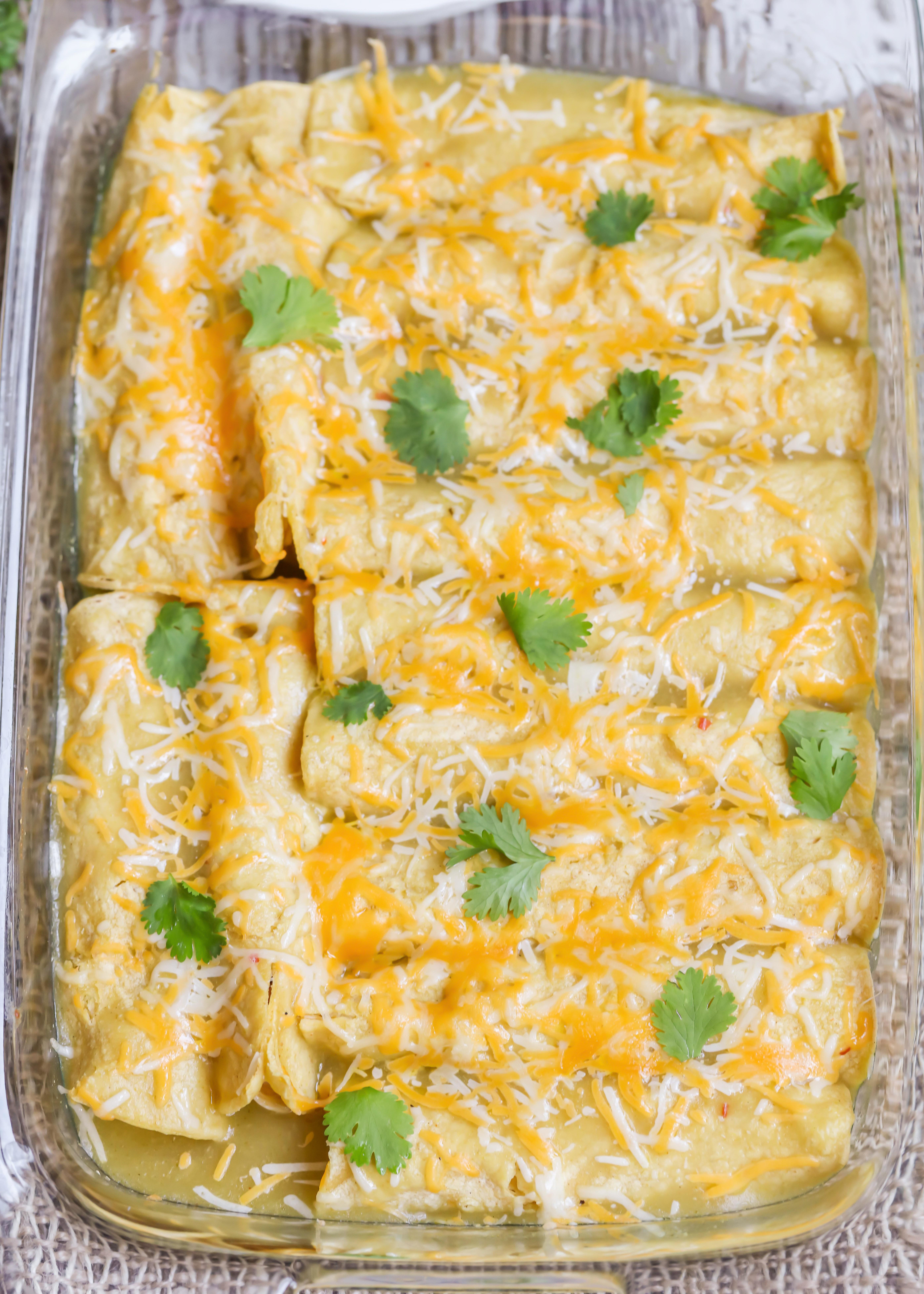 Green Chili Chicken Enchiladas  BEST Green Chile Chicken Enchiladas Recipe VIDEO