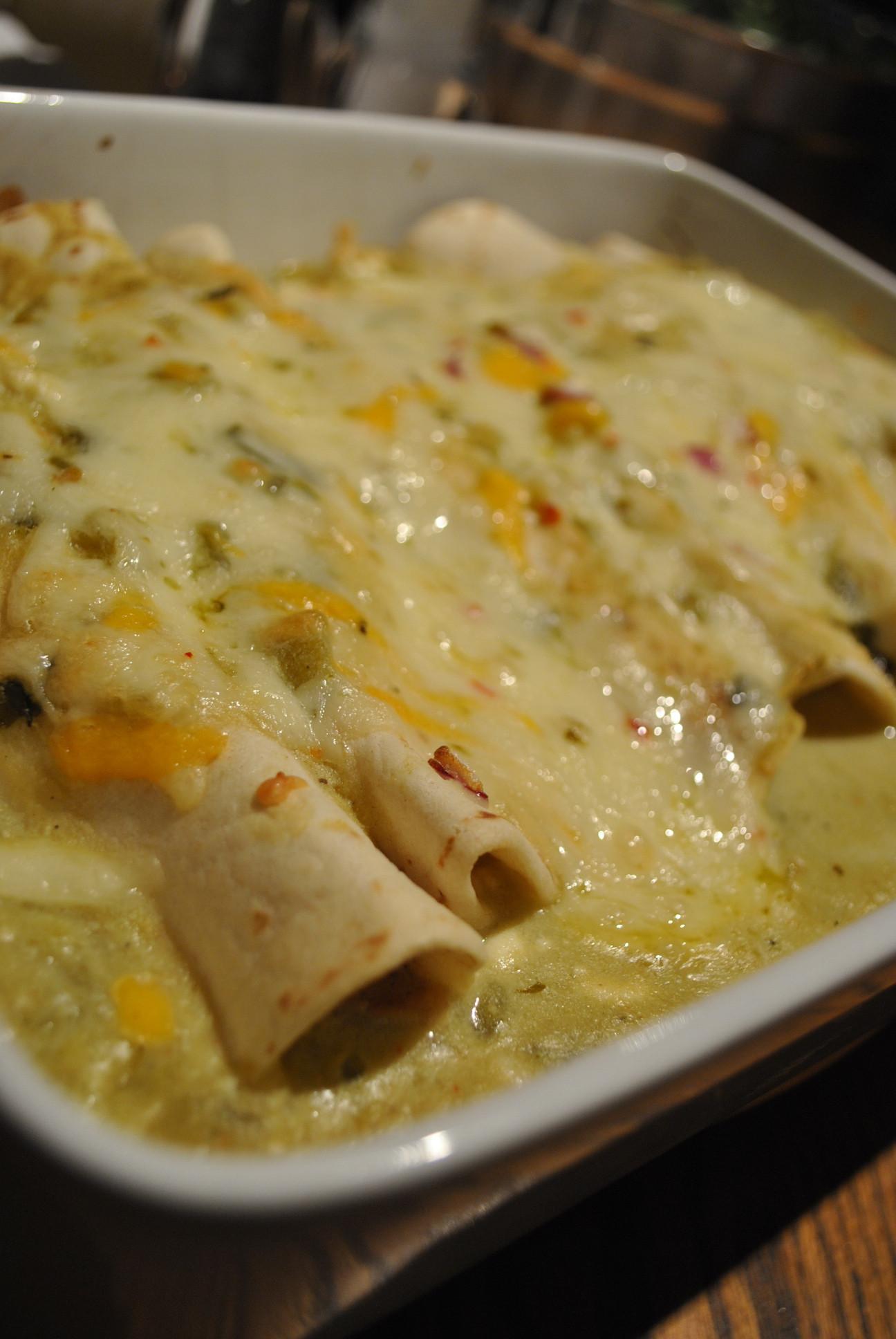 Green Chili Chicken Enchiladas  Cooking for Eight recipe green chile chicken enchiladas
