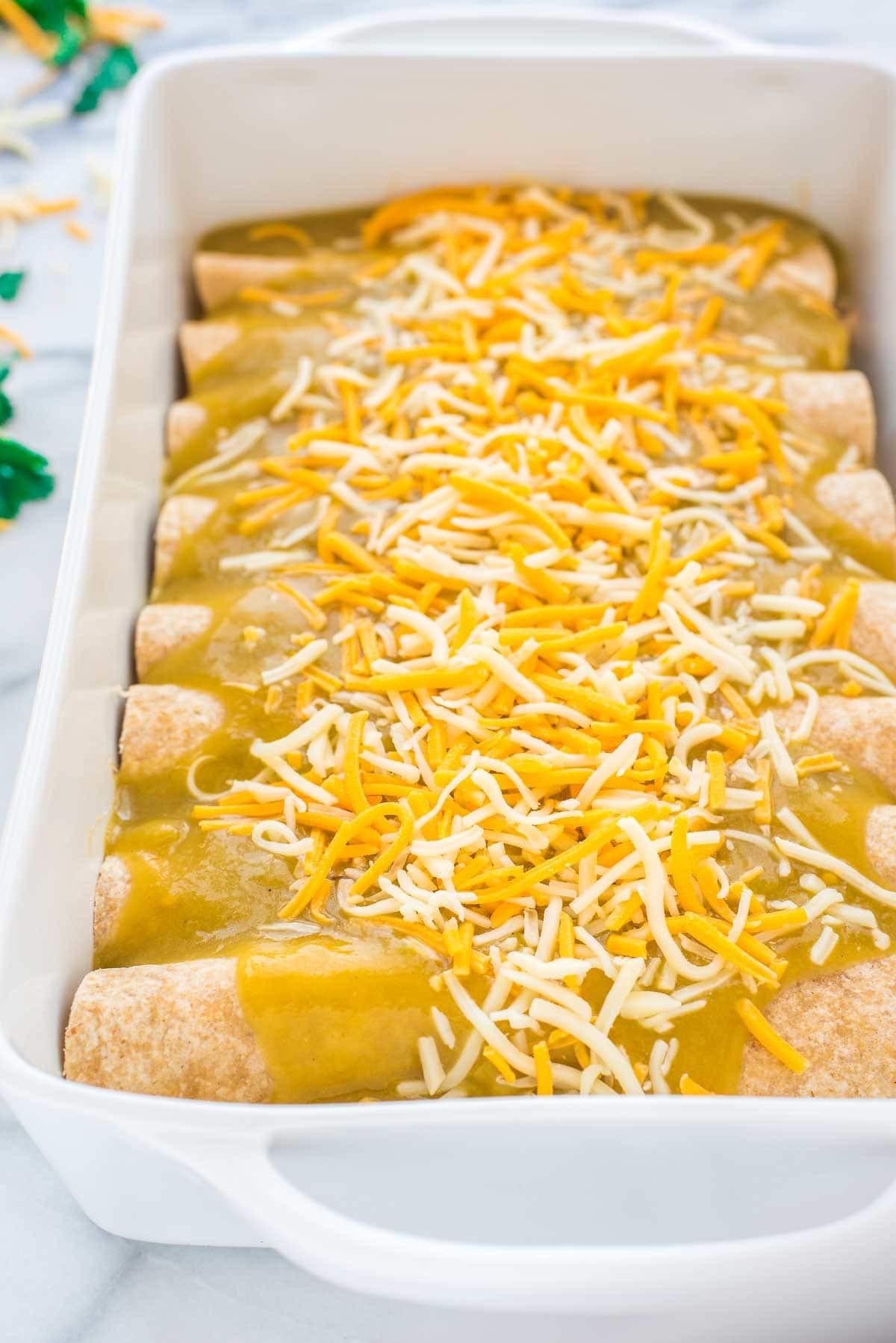 Green Chili Chicken Enchiladas  Green Chile Chicken Enchiladas