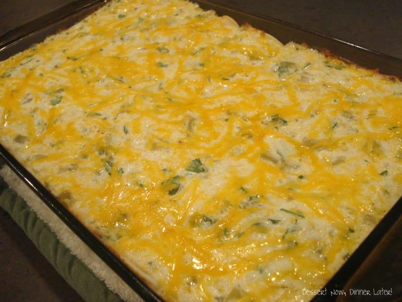 Green Chili Chicken Enchiladas  Cheese & Green Chili Enchiladas Dessert Now Dinner Later