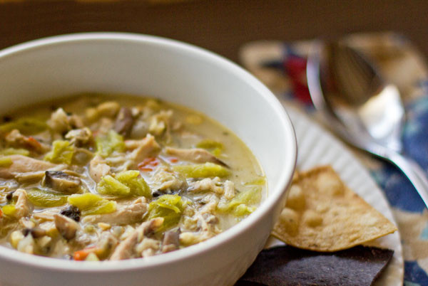 Green Chili Chicken Soup  Hatch Chile Chicken Mushroom Soup from MJ s Kitchen