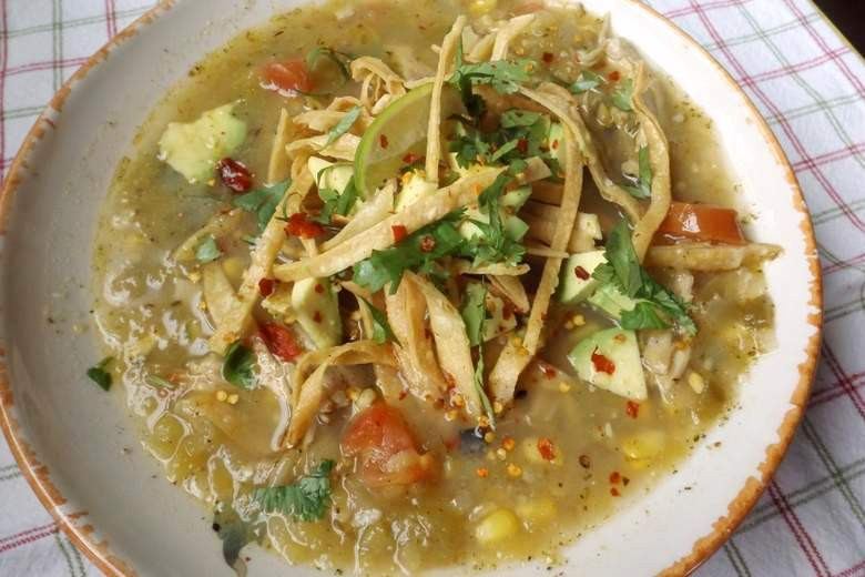 Green Chili Chicken Soup  Chicken Tortilla Soup with Roasted Green Chilies Recipe