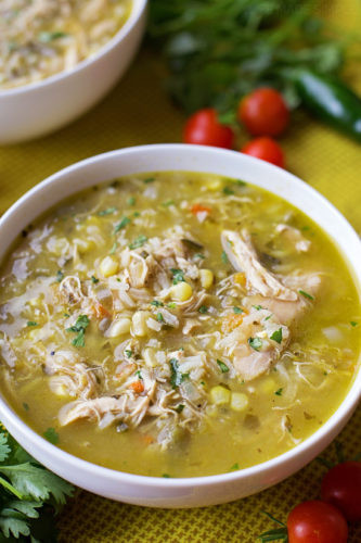 Green Chili Chicken Soup  new mexico green chile chicken soup
