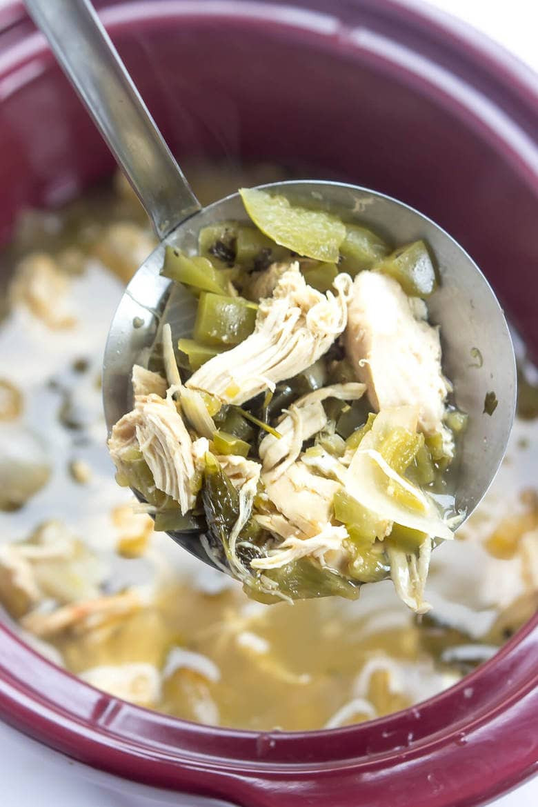 Green Chili Chicken Soup  Slow Cooker Green Chile Chicken Soup Wicked Spatula