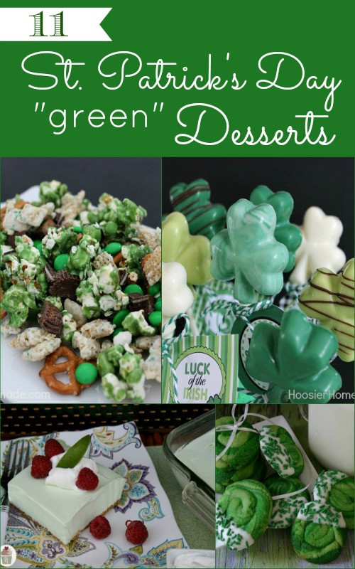 Green Desserts For St Patrick'S Day  30 St Patrick s Day Desserts Hoosier Homemade