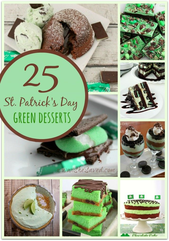 Green Desserts For St Patrick'S Day  25 St Patrick s Day Green Desserts