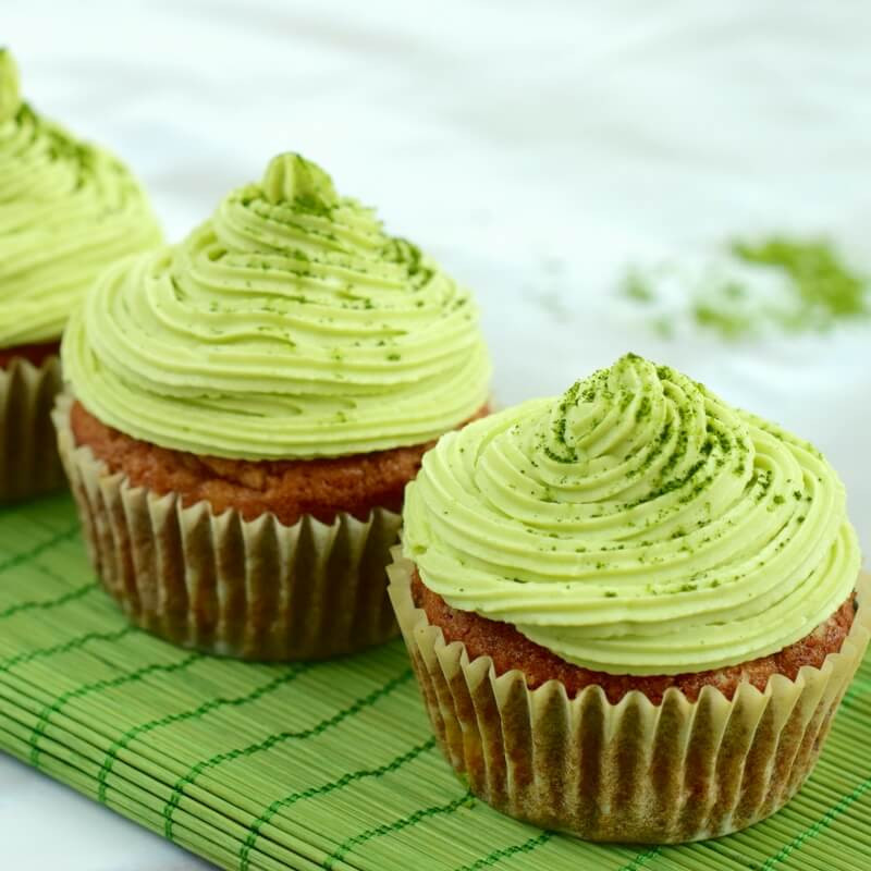 Green Tea Cupcakes  Lovely Matcha Cupcakes with Vanilla Cashew Cream Paleo
