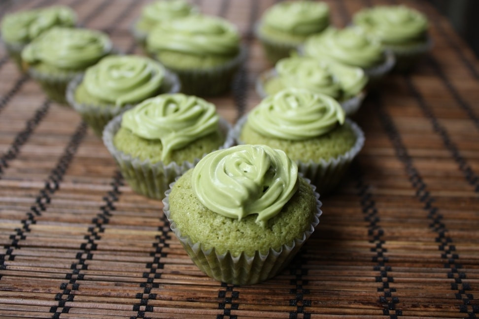 Green Tea Cupcakes  Irresistibly Delectable Mini Green Tea Cupcake Recipe