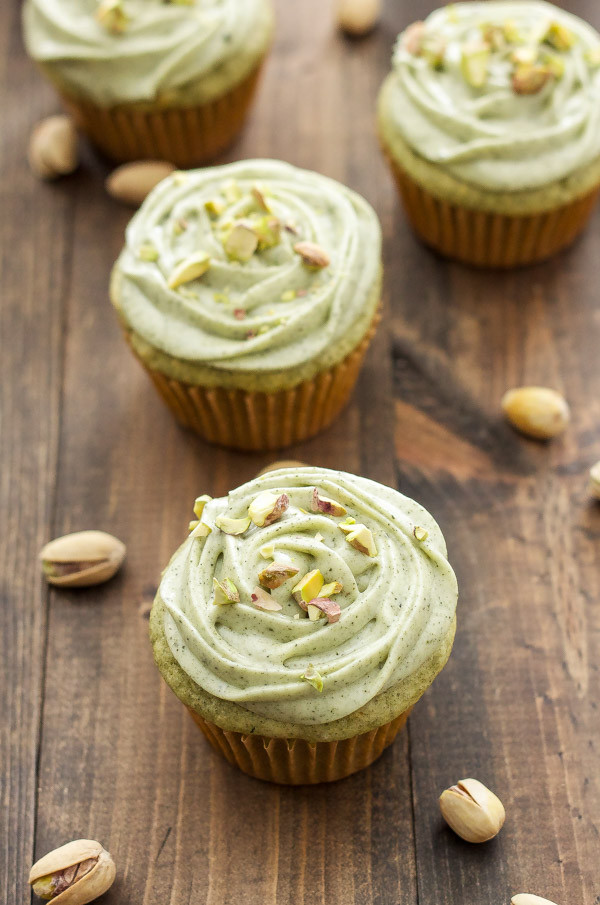 Green Tea Cupcakes  Pistachio Green Tea Cupcakes with Matcha Cream Cheese