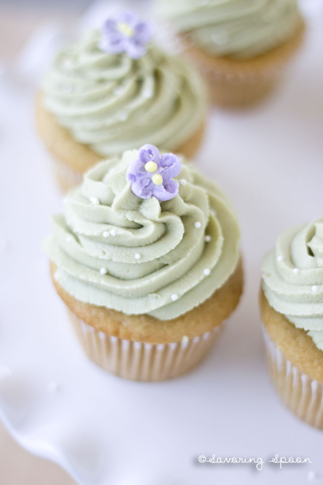 Green Tea Cupcakes  Simple Vegan Green Tea Cupcakes Savoring Spoon