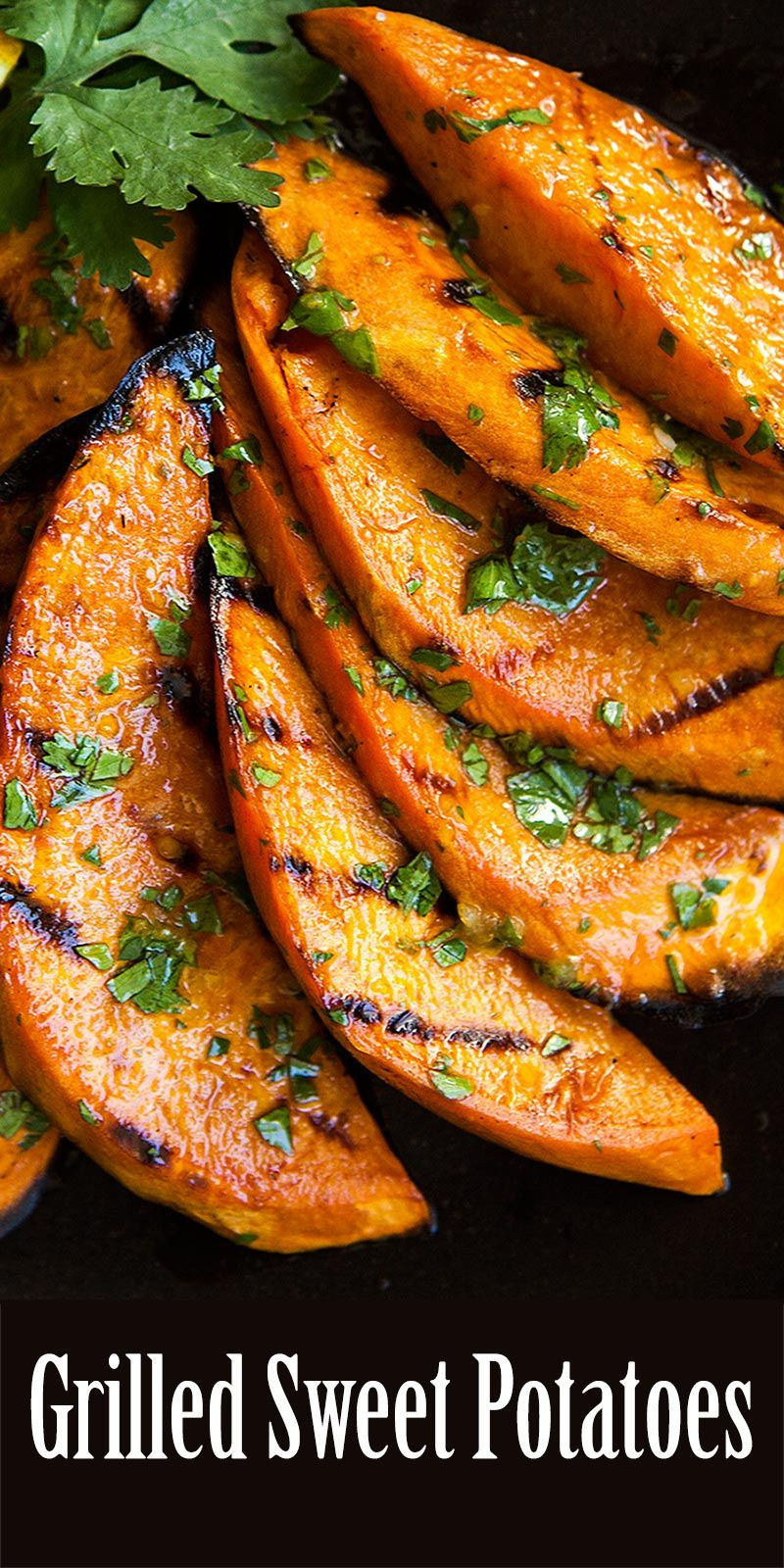 Grill Sweet Potato  Grilled sweet potatoes Slices of sweet potatoes grilled a