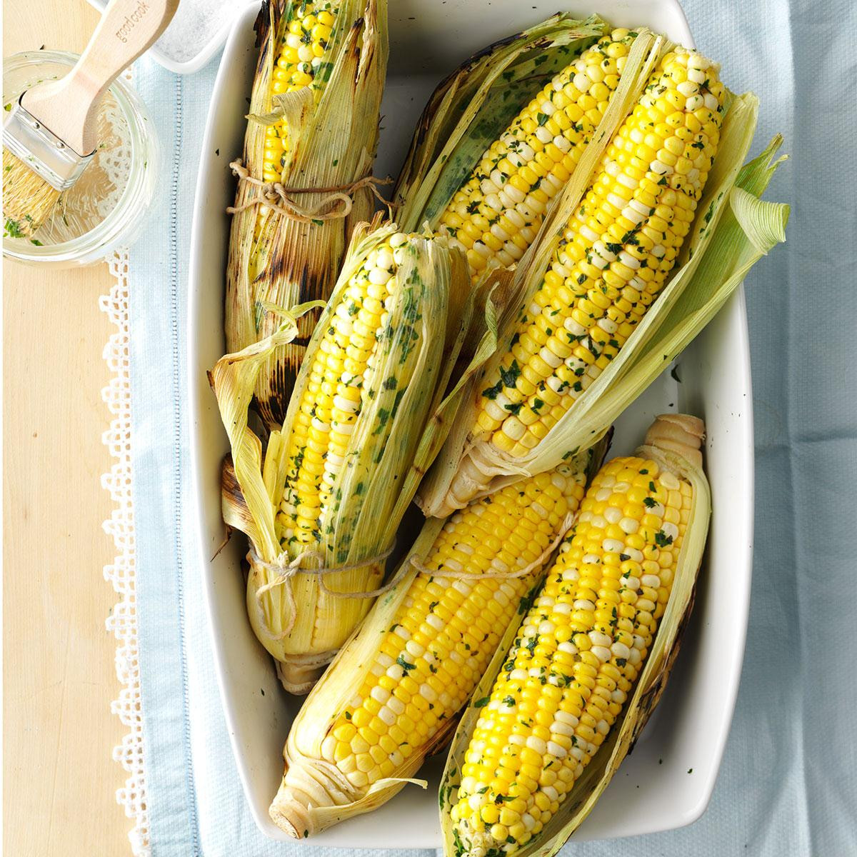 Grilled Corn On The Cob Recipe  Herbed Grilled Corn on the Cob Recipe