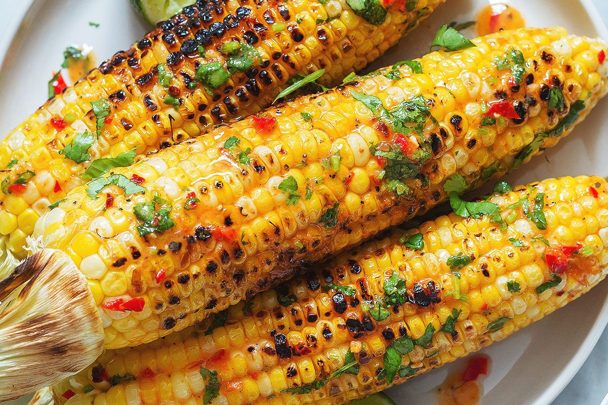 Grilled Corn On The Cob Recipe  Grilled Corn on the Cob Recipe with Chili Lime Butter