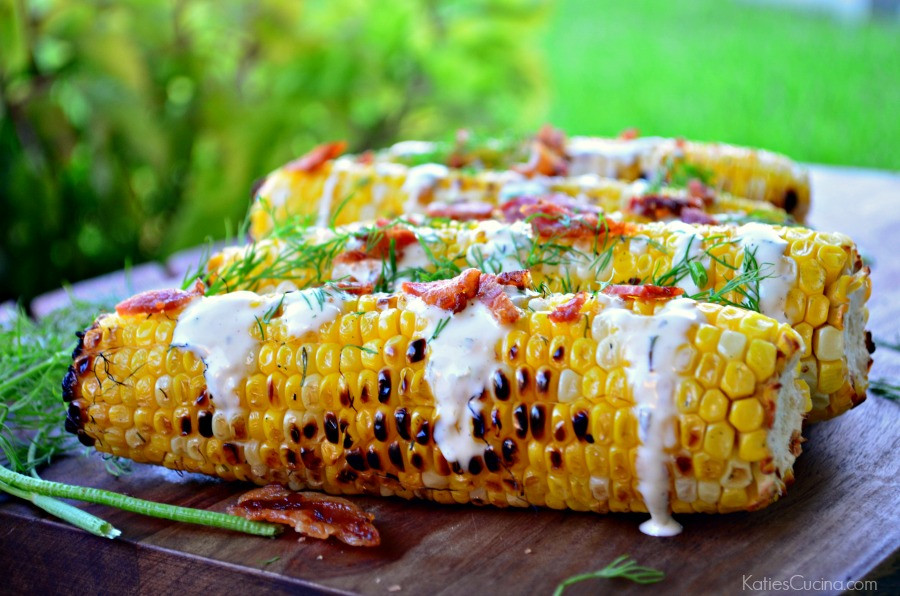 Grilled Corn On The Cob Recipe  Bacon Ranch and Dill Grilled Corn on the Cob