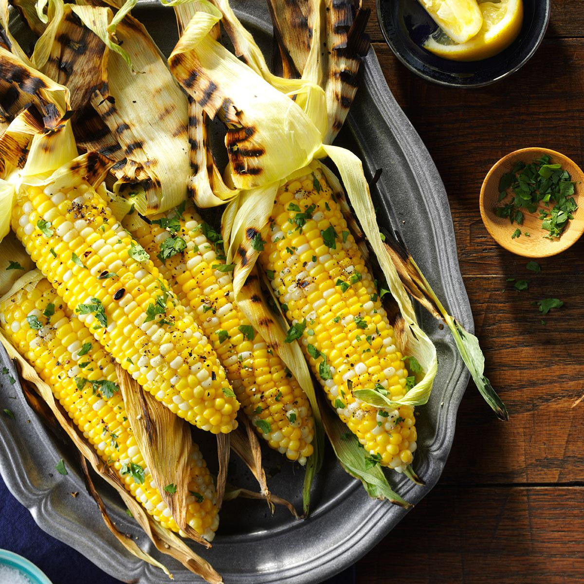 Grilled Corn On The Cob Recipe  Basil Grilled Corn on the Cob Recipe