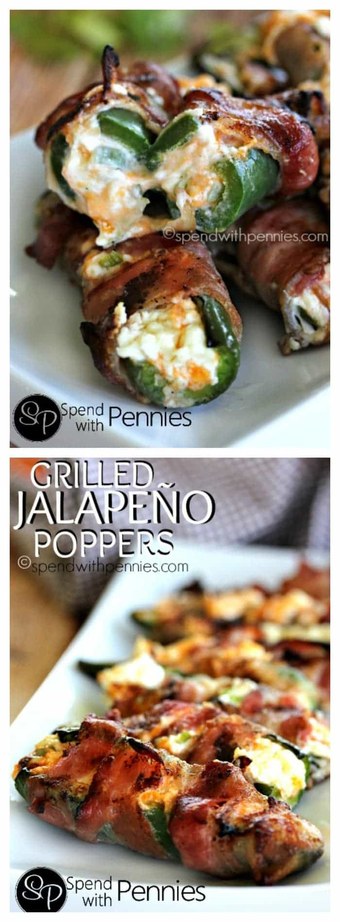 Grilled Jalapeno Poppers  Bacon Wrapped Jalapeno Poppers Spend With Pennies