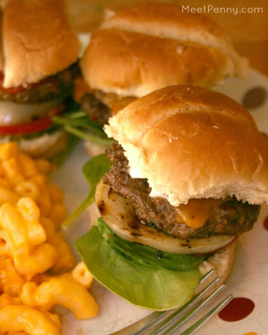 Grilled Onion Cheddar Burger  Cheddar Slider Burgers with Grilled ions Meet Penny