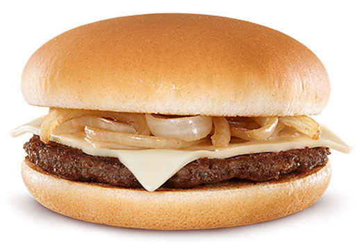 Grilled Onion Cheddar Burger  Reality Check Grilled ion Cheddar Burger from McDonald
