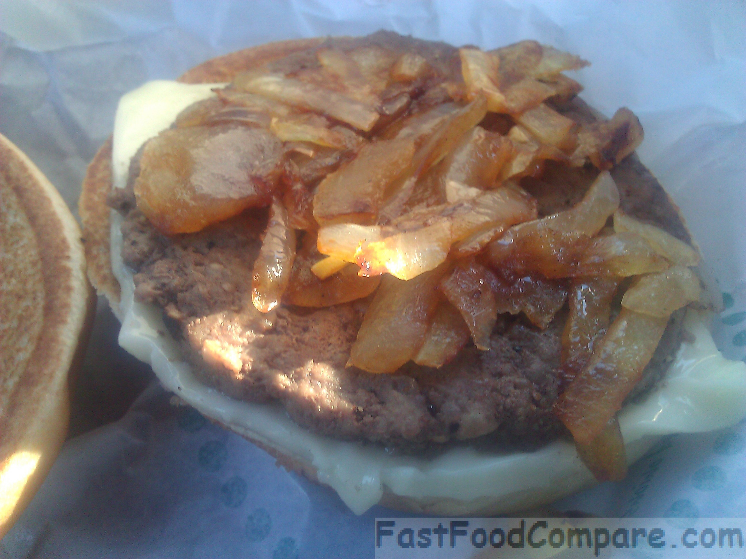 Grilled Onion Cheddar Burger  Review of McDonald s Grilled ion Cheddar Burger Fast