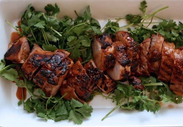 Grilled Pork Tenderloin Recipe  Dinner Tonight Soy Marinated Grilled Pork Tenderloin