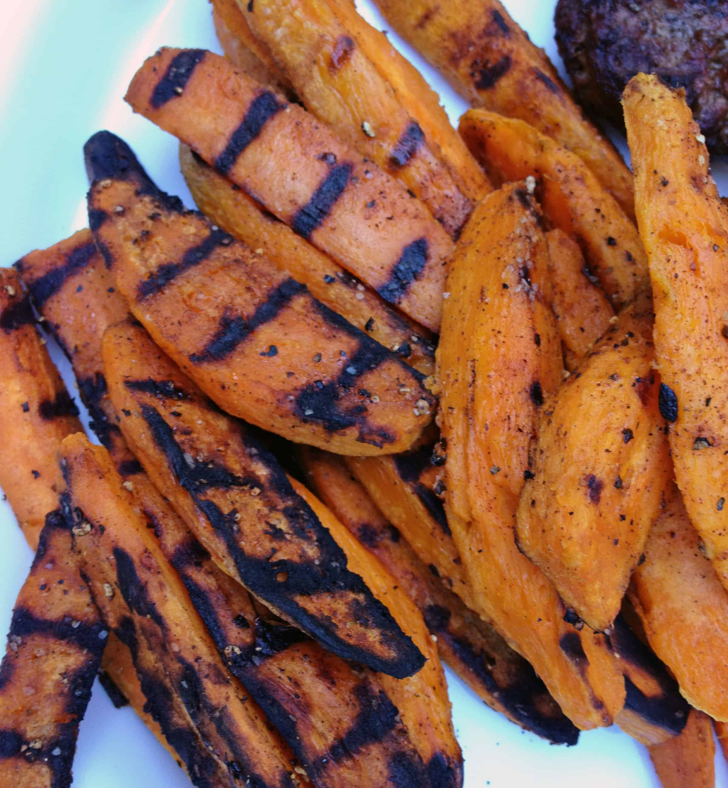 Grilled Sweet Potato Fries  Grilled Sweet Potato Fries The Live In Kitchen