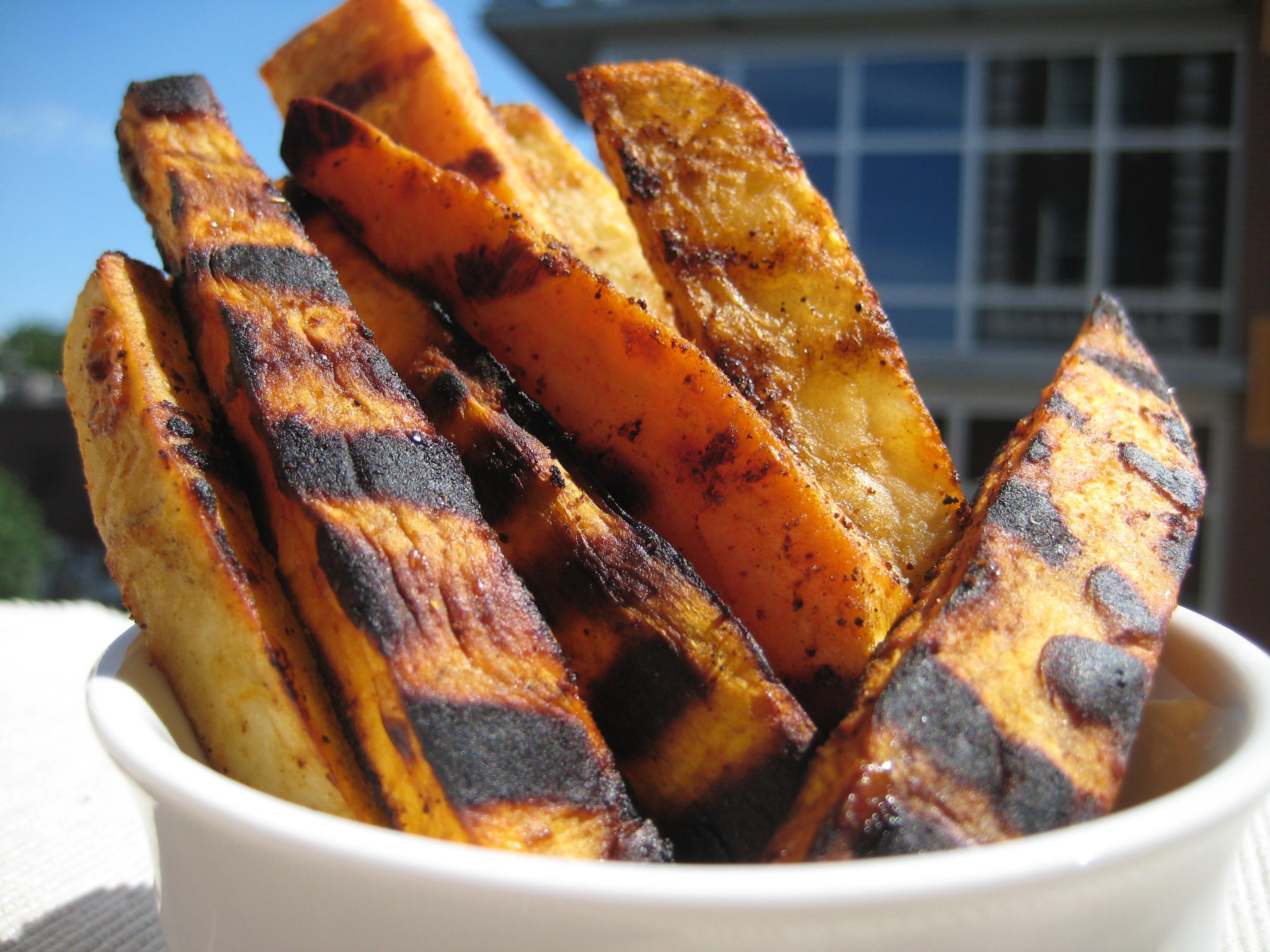 Grilled Sweet Potato Fries  eatfe up FOOD