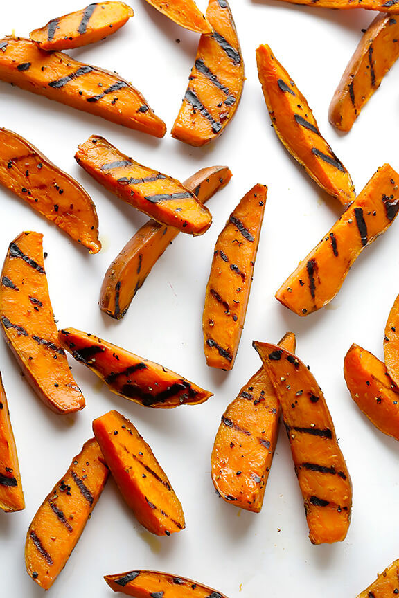 Grilled Sweet Potato Fries  Grilled Sweet Potato Fries